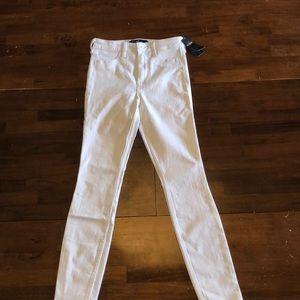 Hollister white high rise jean legging